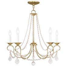 Livex Lighting 6515-02 - 5 Light Polished Brass Chandelier