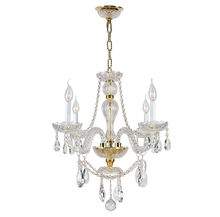 Worldwide Lighting Corp W83095G23-GT - Provence Collection 4 Light Gold Finish with Golden Teak Crystal Chandelier