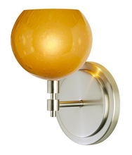 Stone Lighting WS177AMSNX3 - Wall Sconce Optics Fizz Amber Satin Nickel GY6.35 Xenon 35W