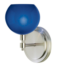 Stone Lighting WS177BUSNX3 - Wall Sconce Optics Fizz Blue Satin Nickel GY6.35 Xenon 35W