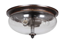 Craftmade 38783-AGTB - Stafford 3 Light Flushmount in Aged Bronze/Textured Black
