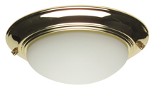 Craftmade LKE53CFL-PB - 2 Light Elegance Bowl Fan Light Kit in Polished Brass with Cased White Glass