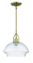 Craftmade P635LB1 - 1 Light Mini Pendant with Rods in Legacy Brass