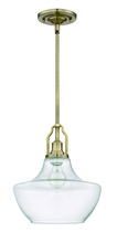 Craftmade P640LB1 - 1 Light Mini Pendant with Rods in Legacy Brass