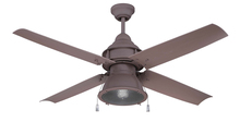 "Craftmade PAR52RI4 - Port Arbor 52"" Ceiling Fan with Blades and Light in Rustic Iron"