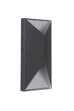 Craftmade Z3402-29-LED - 2 Light Matte Black/Brushed Aluminum LED Pocket Sconce