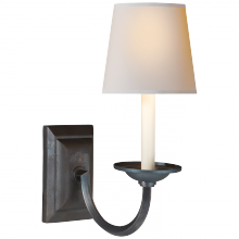 Visual Comfort CHD 1495AI-NP - Flemish Single Sconce in Aged Iron with Natural