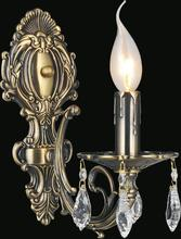 Crystal World 2022W5AB-1 - 1 Light Wall Sconce with Antique Brass finish