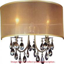 Crystal World 5061W16C-B - 2 Light Wall Sconce with Chrome finish