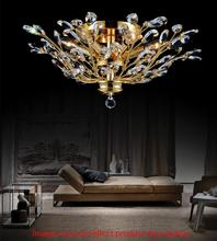 Crystal World 5206C16C - 3 Light Chrome Drum Shade Flush Mount from our Ivy collection