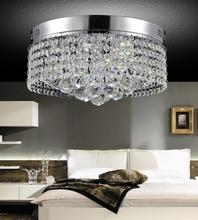 Crystal World 5424C14C - 6 Light Chrome Drum Shade Flush Mount from our Cascade collection