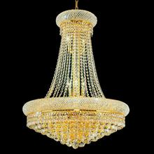 Crystal World 8001P18G - 8 Light Gold Down Chandelier from our Empire collection