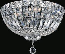 Crystal World 8003C16C - 5 Light Chrome Bowl Flush Mount from our Stefania collection