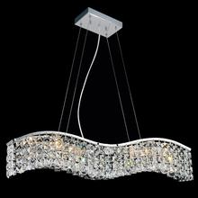 Crystal World 8004P30C-B (Clear) - 5 Light Chrome Down Chandelier from our Glamorous collection