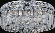 Crystal World 8005C12C-R - 4 Light Chrome Flush Mount from our Colosseum collection