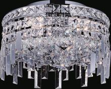 Crystal World 8031C12C-R - 4 Light Chrome Flush Mount from our Colosseum collection