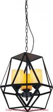 Crystal World 9621P22-6-101 - 6 Light Candle Chandelier with Black finish