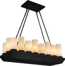 Crystal World 9804P32-18-121 - 18 Light Candle Chandelier with Oil Rubbed Brown finish
