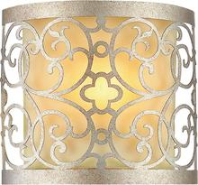 Crystal World 9832W8-1-106 - 1 Light Rubbed Silver Wall Light from our Alexandra collection
