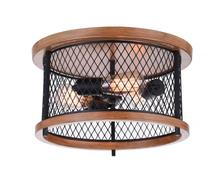 Crystal World 9960C15-3-101-A - 3 Light Cage Flush Mount with Black finish
