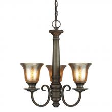 Sea Gull 3170403BLE-736 - Fluorescent Blayne Three Light Chandelier in Platinum Oak with Mercury Glass