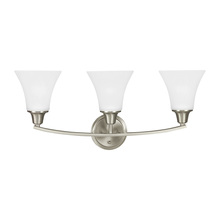 Sea Gull 4413203-962 - Three Light Wall / Bath