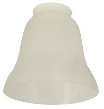 "Ellington Fan 108 - 2 1/4"" Fan Glass, Bell Shaped in Alabaster Swirl"