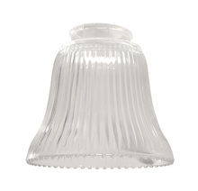 "Ellington Fan 755C - 2 1/4"" Fan Glass, Bell Shaped in Clear Ribbed"