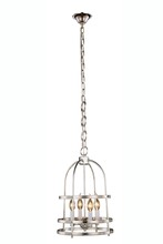 Elegant 1498D12PN - 1498 Baltic Collection Pendant D:12in H:20in Lt:4 Polished Nickel Finish