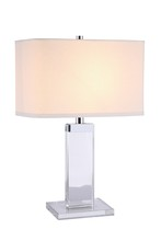 Elegant TL1013 - Regina Collection 1-Light Chrome Crystal Table Lamp