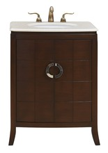 Elegant VF-1035 - 27 in. Single Bathroom Vanity set in Brown