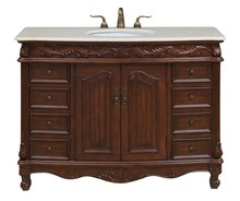 Elegant VF-1040 - 48 in. Single Bathroom Vanity set in Teak color