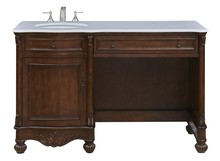 Elegant VF-1044 - 52 in. Single Bathroom Vanity set in Teak color