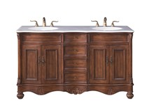 Elegant VF-1048 - 60 in. Double Bathroom Vanity