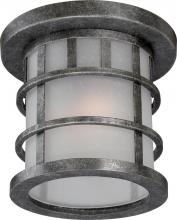 Nuvo 60/5736 - Manor 1 LT Outdoor Flush Fixture w/ Frosted Seed Glass - Aged Silver