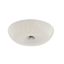 "Dainolite CFLED-1512-SC - LED Flush-mount Fixture, 12"" Mackerel Glass"