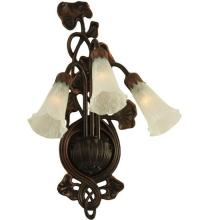"Meyda Tiffany 11846 - 10.5""W White Pond Lily 3 LT Wall Sconce"