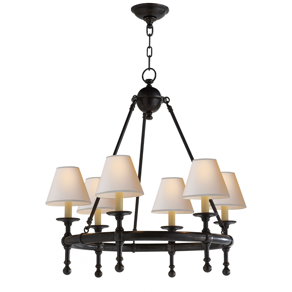 Classic Mini Ring Chandelier In Bronze With Natu 28qnj One Stop Lighting